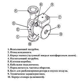 Циркуляционный насос Roda U55 (25-130), фото 2