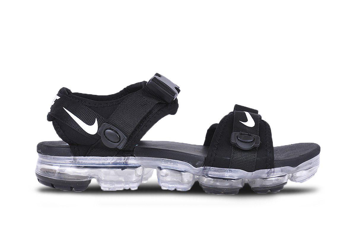 Мужские сандалии Nike VaporMax  (черные), ТОП-реплика