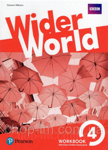 Рабочая тетрадь Wider World 4 WorkBook with Online Homework