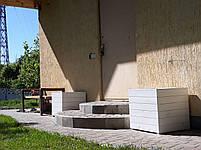 Кадка,ящик для цветов деревянный в белом цвете, пластиковый горшок под цветы., фото 4