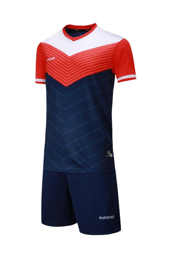 Футбольная форма Europaw 019 т.сине-оранжевая