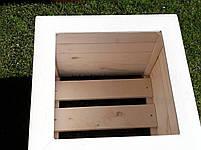 Кадка,ящик для цветов деревянный в белом цвете, пластиковый горшок под цветы., фото 3