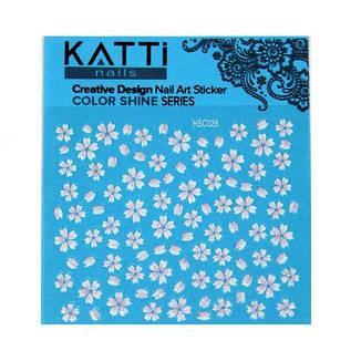 KATTi Наклейки клейкие Color Shine HSC 026 цветные блест, фото 2