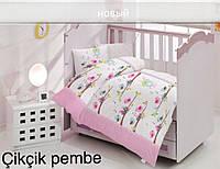 Детское постельное белье Altinbasak (ранфорс) № Cikcik Pembe, фото 1