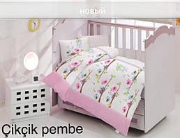 Детское постельное белье Altinbasak (ранфорс) № Cikcik Pembe