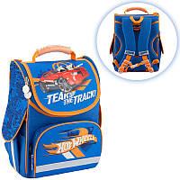 Ранец (рюкзак) - каркасный школьныйдля мальчика - Машина Хот Вилc,501 Hot WeelsHW18-501S-2 Kite