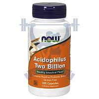 NOW Acidophilus Two Billion Ацидофилус комплекс ацидофильных бактерий пробиотики спортивное питание