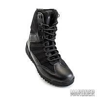 Тактические ботинки SHARK черные кожа. Garsing