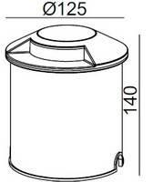 Светильник грунтовый 2-side H1211  CREE LED 7W 220V размер  125мм*140мм IP67  3000К, фото 3