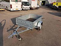 Прицеп бортовой легковой одноосный 2,05м х 1,25м х 0,5м борт., фото 1
