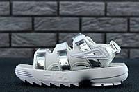 Сандали Fila Sandal Silver. Живое фото. Топ качество. (Реплика ААА+)