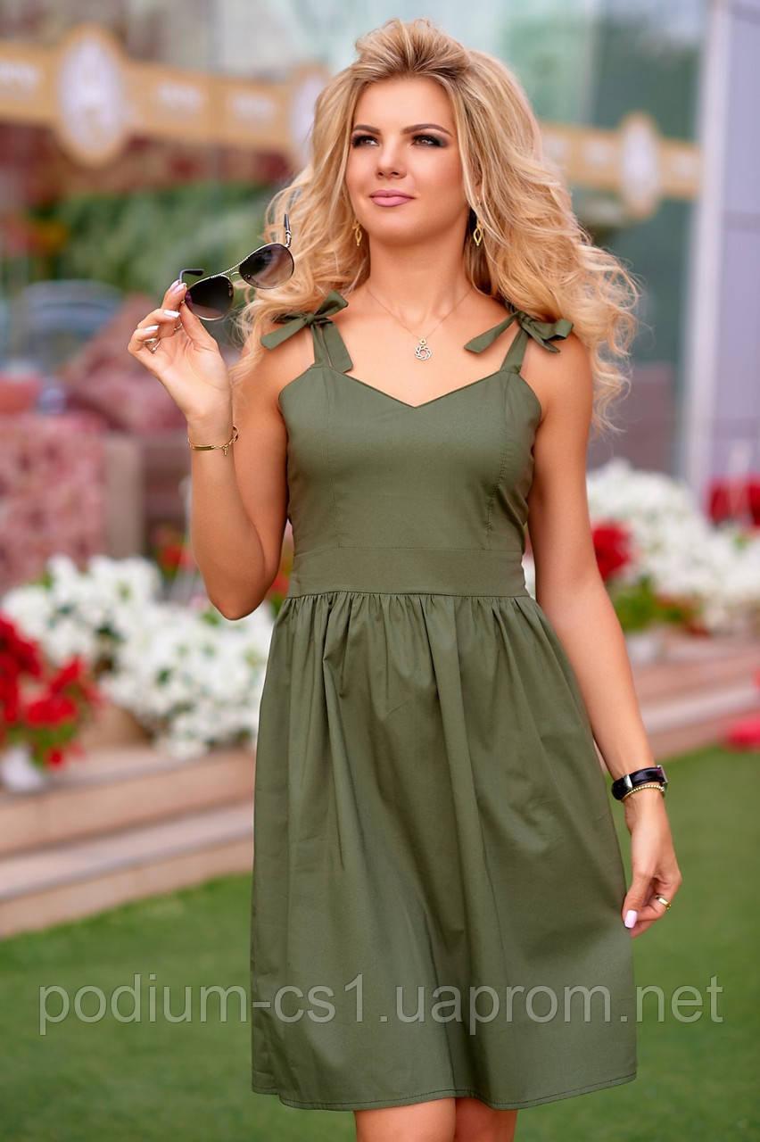 28fca8e3068 Платье с бантом хаки - интернет-магазин