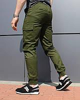 Карго брюки мужские с карманами хакки ТУР модель Ink
