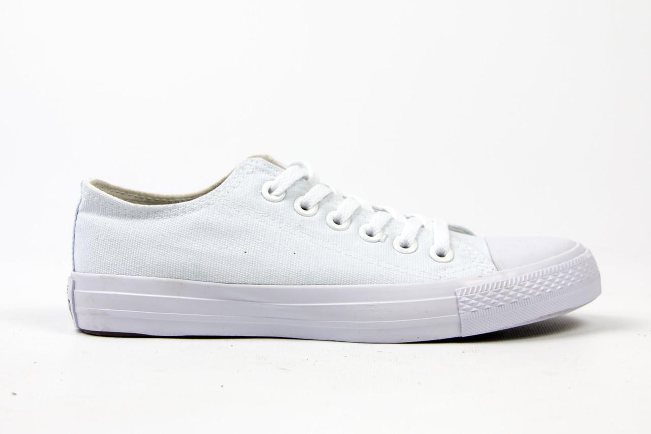 Кеды Converse All Star Женские конверс - all white (конверсы низкие). Топ  Реплика be7c7a4e48266