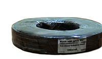 Кабель питания черный с белой полосой (2*0,35мм2)