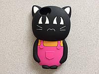Панель Disney 3D Кот в комбезе iPhone 5/5S/SE Rose (Черный) (16034178)