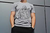 Мужская футболка с принтом серая ТУР Spartacus