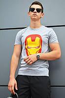 "Футболка мужская летняя Iron Man серая бренд ""ТУР"""