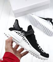 Кроссовки Adidas NMD Pharrell Williams x  'Human Race' Black/White. B Живое фото (Реплика ААА+), фото 1