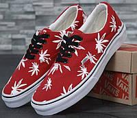 Кеды Vans Vault Era LX OG 'Palm Leaf' Red. Живое фото (Реплика ААА+)