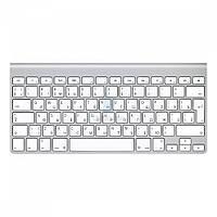 Беспроводная алюминиевая клавиатура Apple Wireless Keyboard, без картонной упаковки (Раскладка - US / RU, официальная гравировка) (MC184RS/B_OEM)