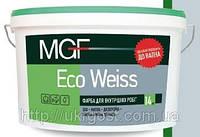 Краска белая водоэмульсионная для внутренних работ MGF M1 Eco weiss , 14 кг