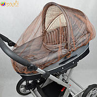 Москитная сетка на коляску универсальная (светло-коричневая)