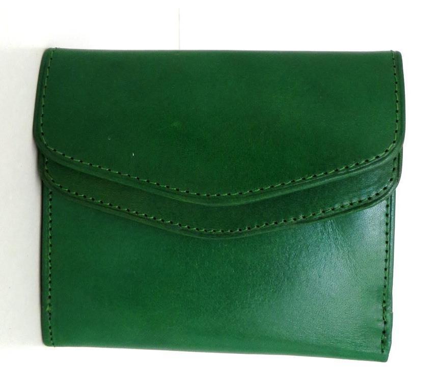 Жіночий кошельок із натуральної шкіри ( Італія) Зелений