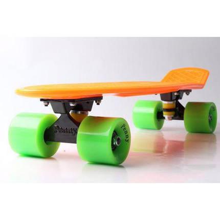 115cbb671bd5 Скейт Пенни Борд Print, Penny Board Original 22 Оранжевый зеленые колеса,  фото 2