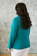 Женский жакет из гипюра Дженни бирюза (56-60), фото 2