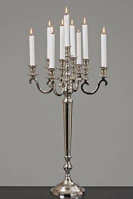 Подсвечник Виктория серебристый h 69 см на 9 свечей