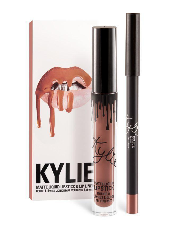 Набор Kylie: жидкая матовая помада + контурный карандаш для губ (Dolce K)