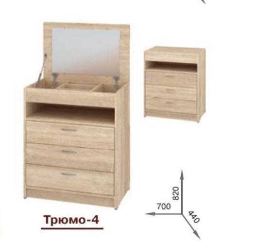 Трюмо-4 (размеры)