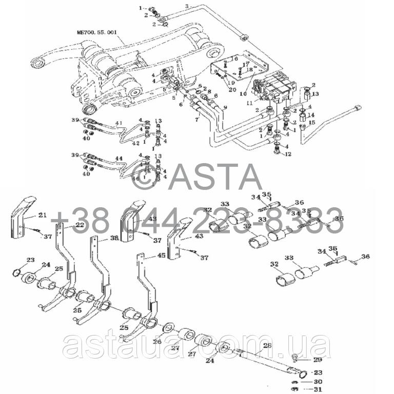 Многоходовой клапан II на YTO X704