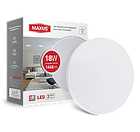 Светодиодный настенно-потолочный светильник MAXUS 1-MAX-01-LCL-1841-C 18W 4100K Круглый