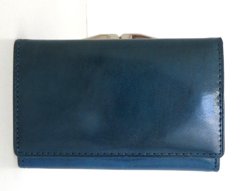 Жіночий кошельок із натуральної шкіри ( Італія) Синій