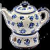 Заварочный керамический чайник 0,7L с подогревателем Чернички