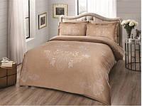 Комплект постельного белья 200х220 TAC DELUX-SATIN LUMINA V03 золотой