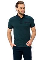 Темно-зеленое мужское поло LC Waikiki / ЛС Вайкики с карманом на груди