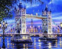 Алмазная вышивка на подрамнике Тауэрский мост, Лондон 50 х 40 см (арт. TN713)