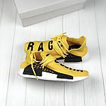 Мужские кроссовки Adidas NMD Pharrell Williams x  'Human Race' Yellow. B Живое фото (Реплика ААА+), фото 10