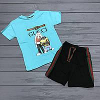 Комплект Футболка и шорты  для мальчиков оптом р.1-2 и 5-6 лет