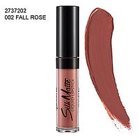 Рідка губна помада Silk Matte Flormar(Флормар), 4,5 г, fall rose, 2737202