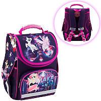 Ранець (рюкзак) - каркасный школьныйдля девочки - Литл Пони,501 My litle ponyLP18-501S-2 Kite