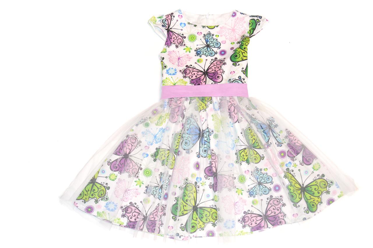 Платье детское  «Ажурная бабочка» пышное . Нарядное