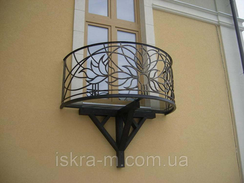 Ограждение для террас и балконов кованые - ИСКРА-М в Киеве