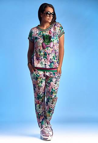 58316fd8e340 Новинка сезона! женский летний брючный костюм размер 48-50, 52-54 ...