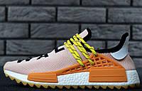 Кроссовки Adidas NMD Pharrell Williams x  'Human Race' 'PALE NUDE'. B Живое фото (Реплика ААА+)