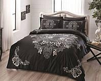 Комплект постельного белья 200х220 TAC DELUX-SATIN LUMINA V01 черный