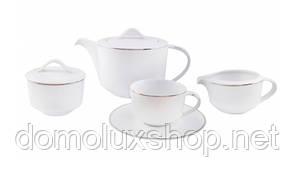 DPL Wave White Набор чайный 17 предметов (000907)
